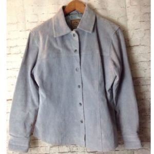 AMI Suede Leather Jacket Button-up Shirt